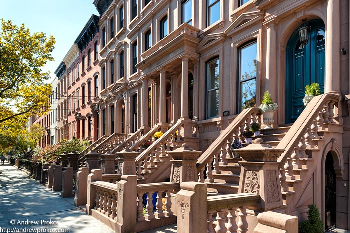 Streets lined with beautiful brownstones